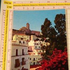 Postales: POSTAL DE IBIZA. AÑO 1962. CIUDAD ALTA Y CATEDRAL. 1850. Lote 147103486