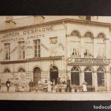 Postales: COMERCIO AU JARDIN D´ESPAGNE PROPIEDAD FAMILIA EMIGRANTE A BELGICA DE ANDRATX MALLORCA POSTAL FOTO. Lote 147320046