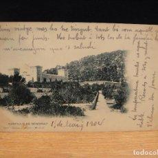 Postales: CASTILLO DE BENDINAT - EDIC. HAUSER Y MENET - SIN DIVIDIR , CIRCULADA 1904. Lote 147580274