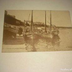 Postales: BARCAS DE PESCA MAHON 4, MENORCA . J. VICTORY. COLECCION ATENEO , SIN CIRCULAR.. Lote 147628874