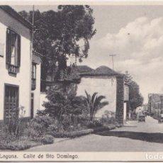 Postales: LA LAGUNA (TENERIFE) - CALLE DE SANTO DOMINGO. Lote 147667202