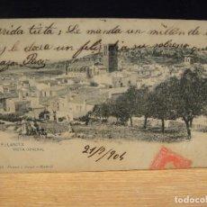 Postales: FELANITX - EDIC. HAUSER Y MENET - SIN DIVIDIR , CIRCULADA EN 1904 - MATASELLOS DE BAGES. Lote 147671086