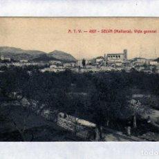 Postales: POSTAL DE SELVA (MALLORCA) MUY ANTIGUA A.T.V. 4107 PUEBLO DEL INTERIOR DE LA ISLA 1910/20. Lote 148236806