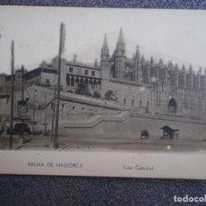 Postales: BALEARES PALMA DE MALLORCA VISTA CATEDRAL POSTAL ANTIGUA. Lote 148391441
