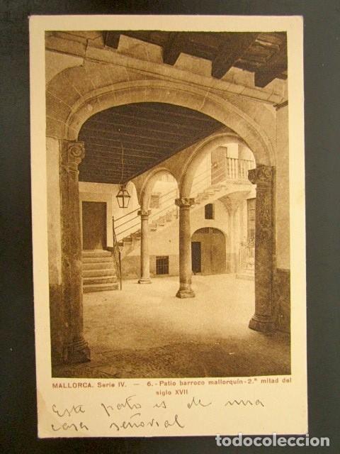 POSTAL MALLORCA. PATIO BARROCO MALLORQUÍN. AÑO 1926. (Postales - España - Baleares Antigua (hasta 1939))