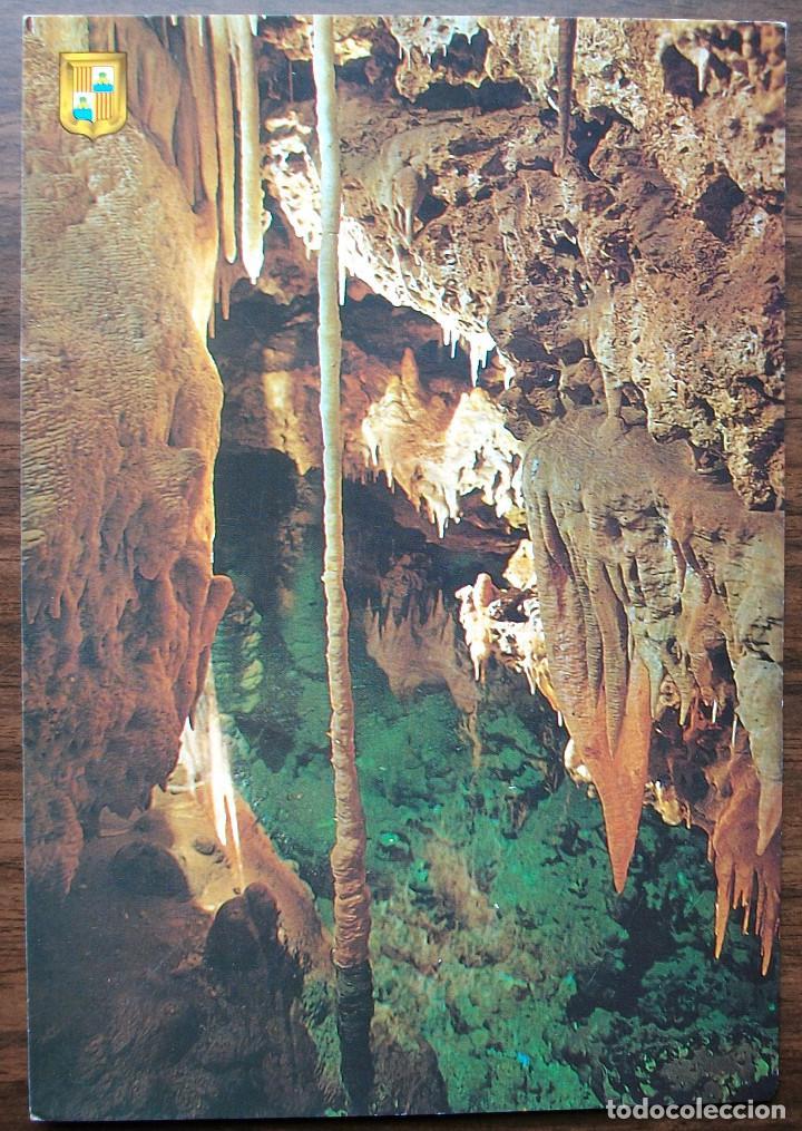 FOTO POSTAL MALLORCA. PORTO CRISTO (MANACOR) - LAGO DE LAS COLUMNAS. (SIN CIRCULAR) (Postales - España - Baleares Moderna (desde 1.940))