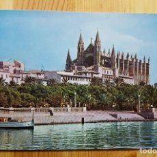 Postales: PALMA DE MALLORCA LA CATEDRAL DESDE EL MUELLE DE PESCADORES - NEVCOLOR Nº120 CASA PLANAS. Lote 151039878