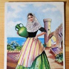 Postales: POSTAL DE HILO TELA BALEARES Nº 23 TRAJE TIPICO ISLAS BALEARES MALLORCA FIRMA IRAOLA. Lote 151110358