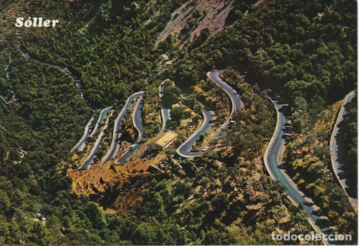 MALLORCA, SOLLER, CARRETERA DEL COLL, VISTA AEREA (Postales - España - Baleares Moderna (desde 1.940))