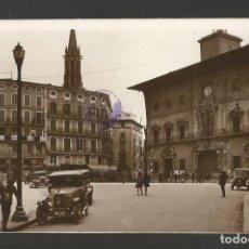 Postales: PALMA DE MALLOCA-PLAZA CORT Y AYUNTAMIENTO-COCHE AUTOMOVIL-FOTOGRAFICA SELLO EN SECO ROISIN-(57.089). Lote 151297706