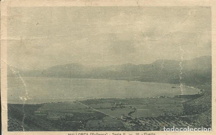 MALLORCA. POLLENSA. SERIE II. 10. PUERTO. SIN CIRCULAR. 9X14 CM. (Postales - España - Baleares Antigua (hasta 1939))