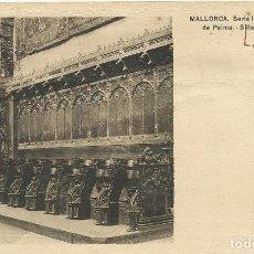 Postales: MALLORCA. CATEDRAL DE PALMA. SILLERÍA DEL CORO. SERIE III. 8. SIN CIRCULAR. 9X14 CM. . Lote 151424506