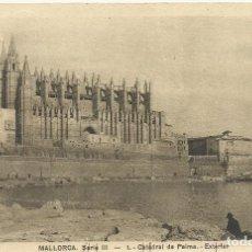 Postales: MALLORCA. CATEDRAL DE PALMA. EXTERIOR. SERIE III. 1. SIN CIRCULAR. 9X14 CM. . Lote 151424746