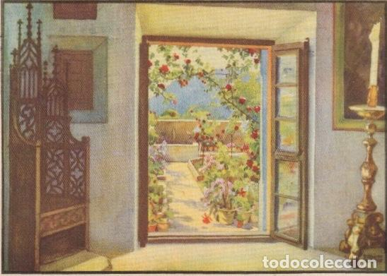 POSTAL VALLDEMOSA CELDA DE CHOPIN Y DE GEORGE SAND CIRCULADA EN 1946 A REQUENA VALENCIA -A-1 (Postales - España - Baleares Moderna (desde 1.940))