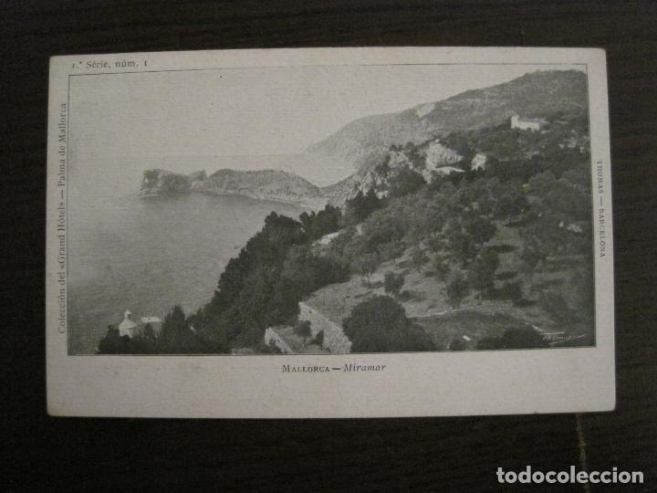 MALLORCA-MIRAMAR-COL·GRAND HOTEL SERIE 1 Nº1-THOMAS-REVERSO SIN DIVIDIR-(57.275) (Postales - España - Baleares Antigua (hasta 1939))