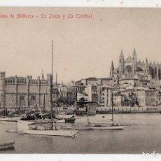 Postales: PALMA DE MALLORCA. LA LONJA Y LA CATEDRAL. VELEROS.. Lote 154786666