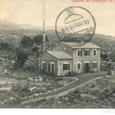 Postales: SÓLLER-ESTACIÓN DE TELEGRAFÍA SIN HILOS- AÑO 1915- RARA. Lote 155787258