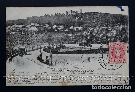 POSTAL BALEARES MALLORCA CASTILLO DE BELLVER . TRUYOL AÑO 1899 O ANTERIOR . (Postales - España - Baleares Antigua (hasta 1939))