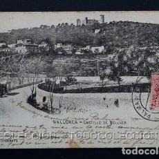 Postales: POSTAL BALEARES MALLORCA CASTILLO DE BELLVER . TRUYOL AÑO 1899 O ANTERIOR .. Lote 156631162
