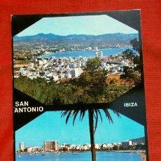 Postales: SAN ANTONIO (IBIZA) VISTA PANORAMICA - ED. CASA FIGUERETAS - AÑOS 60 - BALEARES. Lote 156798382
