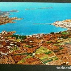 Postales: SAN ANTONIO (IBIZA) VISTA AEREA DE LA BAHIA - ED. CASA FIGUERETAS - AÑOS 60 - BALEARES. Lote 156798654