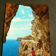 Postales: ALAYOR (MENORCA) CALA'N PORTER - COVA D'EN XOROI - ED. LUCIA MORA - AÑOS 60 - BALEARES. Lote 156811810