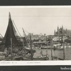Postales: PALMA DE MALLORCA-LA LONJA Y CATEDRAL-POSTAL ANTIGUA-(58.000). Lote 157093170