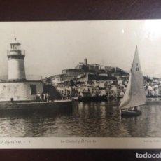 Postales: IBIZA LA CIUDAD Y EL PUERTO Nº 4 FOTO VIÑETS - ESCRITA - 1949. Lote 158174918