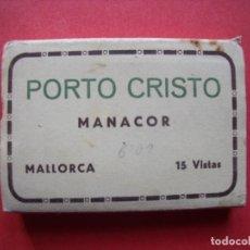 Postales: PORTO CRISTO.-MANACOR.-MALLORCA.-TALLERES A. ZERKOWITZ.-BLOC EN MINIATURA CON 15 VISTAS.-POSTALES. Lote 160390846