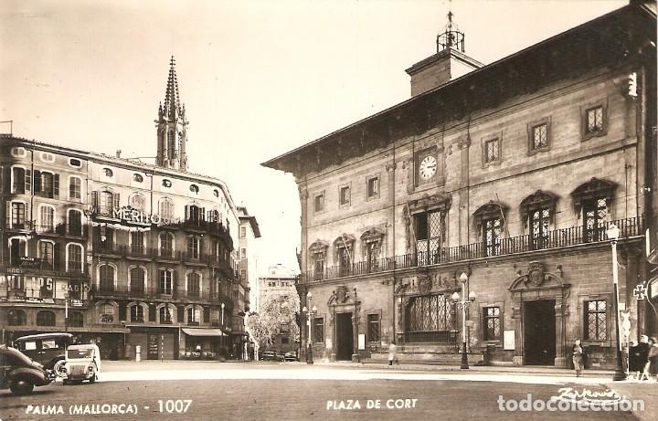 PALMA DE MALLORCA 1007 VER BISCUTER PLAZA CORT SIN CIRCULAR (Postales - España - Baleares Moderna (desde 1.940))