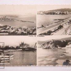 Postales: POSTAL FOTOGRÁFICA - PALMA DE MALLORCA. 4 VISTAS - ESCRITA AL DORSO, 1953. Lote 162681554