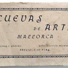 Postales: BLOCK CON 14 POSTALES (FALTA UNA) CUEVAS DE ARTÁ, MALLORCA - CLICHÉS J. SANCHO. Lote 163397614