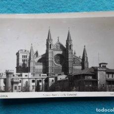 Postales: MALLORCA. PALMA. TORRES DE LA CATEDRAL . FRANQUEADA EL 27 DE JULIO DE 1951.. Lote 164616970