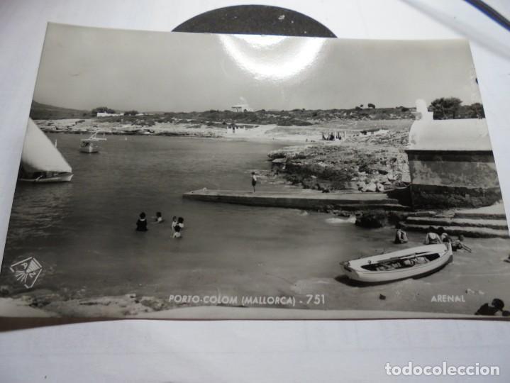 MAGNIFICA ANTIGUA POSTAL DE MALLORCA PORTO COLOM,ARENAL (Postales - España - Baleares Moderna (desde 1.940))