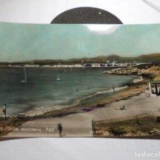 Postales: MAGNIFICA ANTIGUA POSTAL DE MALLORCA PORTO COLOM,ARENAL. Lote 165269674