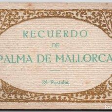 Postales: PALMA DE MALLORCA - BLOCK - ÁLBUM DE 24 POSTALES - FOTOTIPIA THOMAS DE BARCELONA. Lote 166981116
