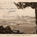 Postales: POSTAL DE IBIZA BALEARES SERIE D Nº 3 PLAYA DES CODOLÁ CIRCULADA EL AÑO 1948. Lote 168333896