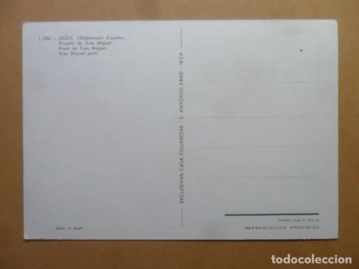 Postales: POSTAL - 1686 - IBIZA (BALEARES) - PUERTO DE SAN MIGUEL - EXCLUSIVAS CASA FIGUERETAS - Foto 2 - 168568460