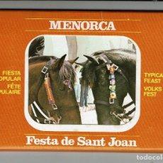 Postales: ARTÍSTICAS TARJETAS POSTALES SOBRE LA FESTA DE SANT JOAN. JAUME FEDELICH BOSCH. 1982 (MENORCA.3.4). Lote 169575412