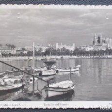 Postales: PALMA DE MALLORCA -DETALLE DEL PUERTO- (FOT. F. GUILERA Nº 1) 2 FOTOS / CIRCULADA 1950 / P-5410. Lote 169998196