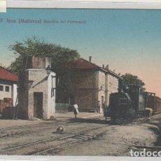 Postales: ATV 2 INCA MALLORCA ESTACIÓN DEL FERROCARRIL TREN LOCOMOTORA. ED ANGEL TOLDRA. JAIME COLL INCA. . Lote 171041643