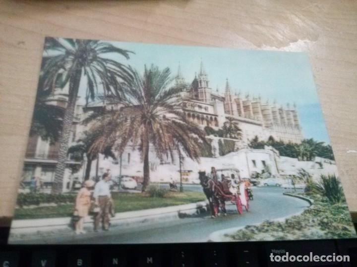 POSTAL DE CATEDRAL DE PALMA DE MALLORCA CON EFECTO PROFUNDIDAD, HOLOGRAFICO ANTIGUA (Postales - España - Baleares Moderna (desde 1.940))