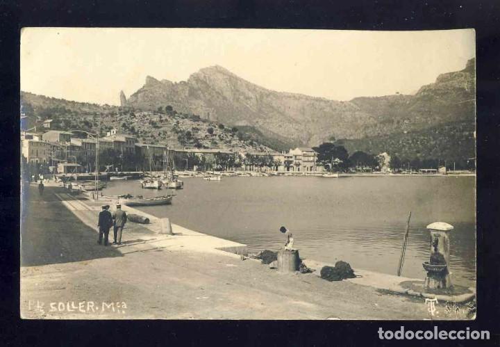 POSTAL DE SOLLER: PORT. FOTOGRAFICA ANTIGA. ED.TJ (Postales - España - Baleares Antigua (hasta 1939))