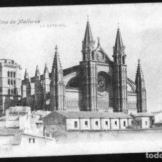 Postales: ANTIQUISIMA POSTAL DE LA CATEDRAL DE PALMA DE MALLORCA REVERSO SIN DIVIDIR 1900/06 SIN CIRCULAR BIEN. Lote 172611290