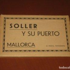 Postales: DESPLEGABLE DE POSTALES DE SOLLER Y SU PUERTO. Lote 173447282