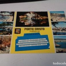 Postales: MALLORCA - POSTAL PORTO CRISTO. Lote 173925103