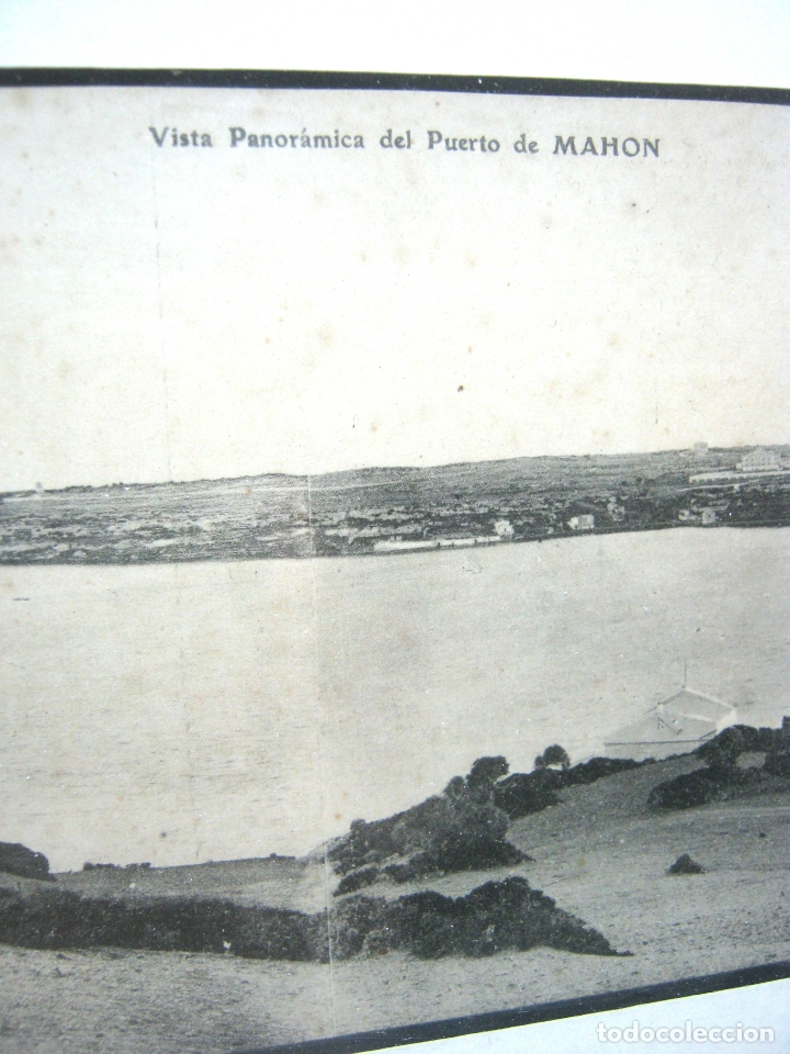 Postales: Vista panoramica del Puerto de Mahon ( con Isla de las Ratas) - rara Edicion J. Bracons Barcelona - Foto 2 - 174104458