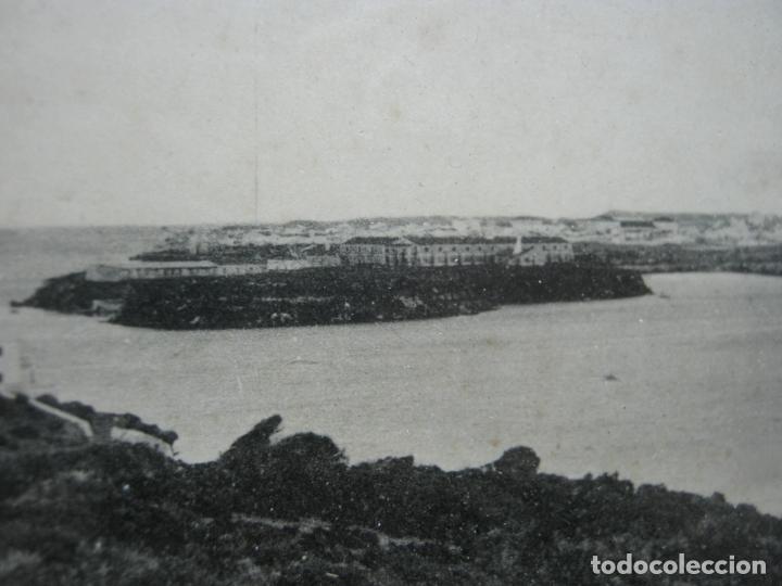 Postales: Vista panoramica del Puerto de Mahon ( con Isla de las Ratas) - rara Edicion J. Bracons Barcelona - Foto 5 - 174104458