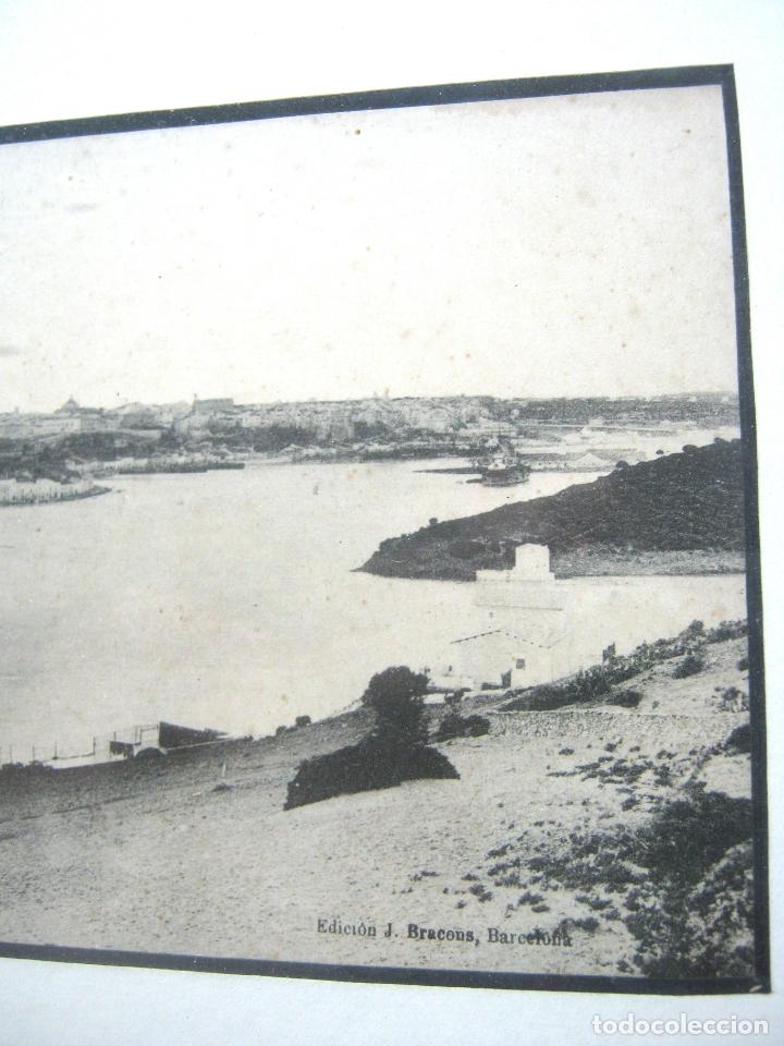 Postales: Vista panoramica del Puerto de Mahon ( con Isla de las Ratas) - rara Edicion J. Bracons Barcelona - Foto 7 - 174104458