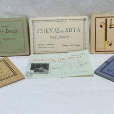 Postales: LOTE 5 ANTIGUOS ALBUMES POSTALES MALLORCA +ENTRADA CUEVAS ARTÁ AÑO 1935.VER DESCRIPCIÓN. Lote 174826124